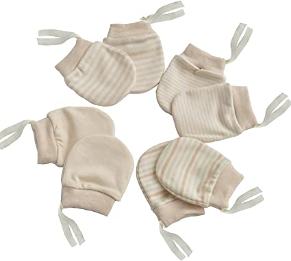 2-Packs Soft Newborn//Infant NO-Scratching Cotton Mittens For 0-6M One Size