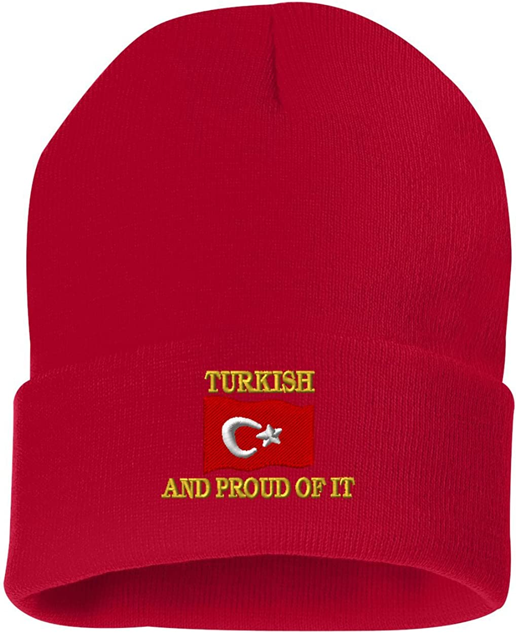 TURKISH AND PROUD OF IT Custom Personalized Embroidery Embroidered Beanie