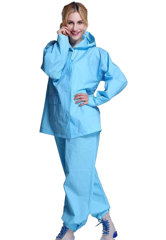 Cheetah Ladies Lightweight Ripstop Jacket Pant Rain Suit Set at ...