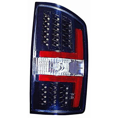 Depo 334-1909PXNS2C Dodge Ram Pickup Black LED Tail Light: Automotive