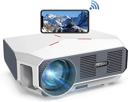 Opinión sobre 【Actualizado 2020】 Proyector WiFi, BOSNAS Nativo 720P Mini Proyector Portátil 5800 Lumen, Soporta Full HD 1080P, Cine en Casa 200