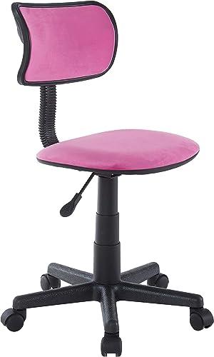 Urban Shop Crushed Velvet Swivel Task Chair