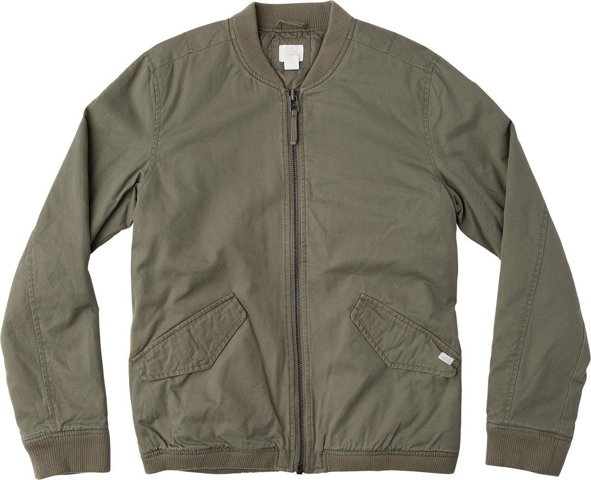 RVCA Men's All City Bomber Jacket, Burnt Olive, X-Large