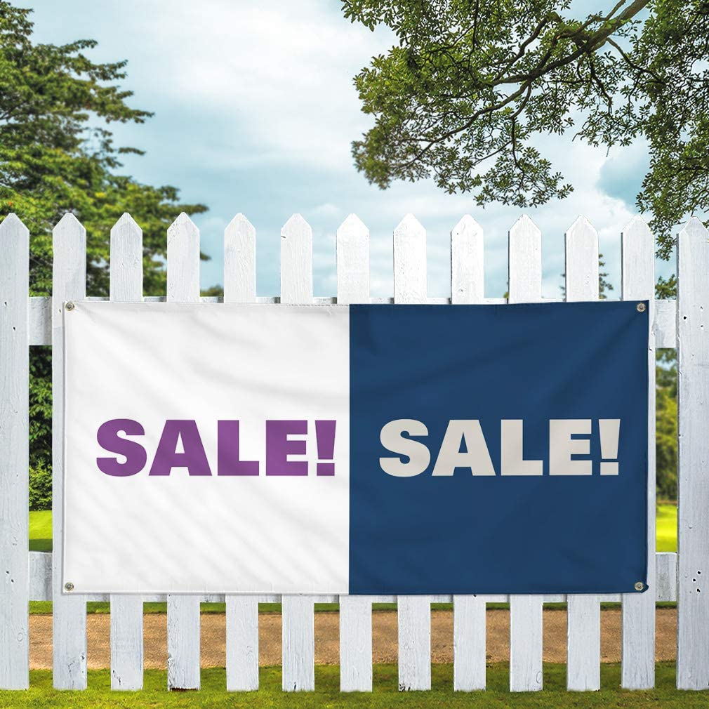 Outdoor Advertising Printing B Business Outdoor Weatherproof Industrial Yard Signs Blue 10 Grommets 60x144Inches Vinyl Banner Multiple Sizes Sale