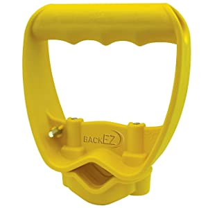 Back-Saving Tool Handle, Labor-Saving Ergonomic Shovel or Rake Handle Attachment, YELLOW