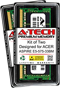 A-Tech 16GB (2 x 8GB) RAM for ACER Aspire E5-575-33BM | DDR4 2133MHz SODIMM PC4-17000 260-Pin Non-ECC Memory Upgrade Kit