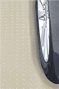 Resilia Heavy Duty Garage Floor Runner & Protector Mat - Non-Slip Grip, Embossed Diamond Plate Pattern, Water & Stain Resistant, Sandstone (4 feet x 15 feet)