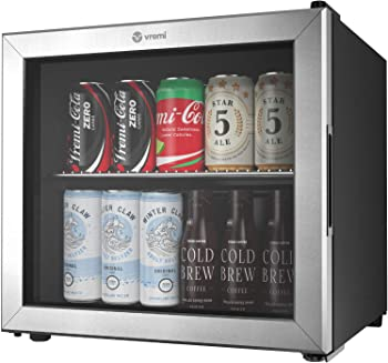 Vremi Glass Door Under-counter Refrigerator