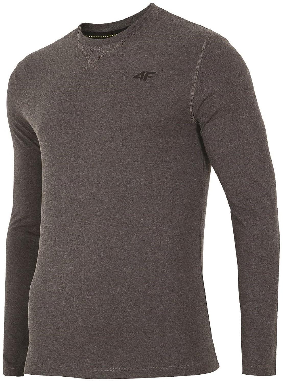 4F Herren Longsleeve, Sportliches Langarmshirt, 100% Baumwolle