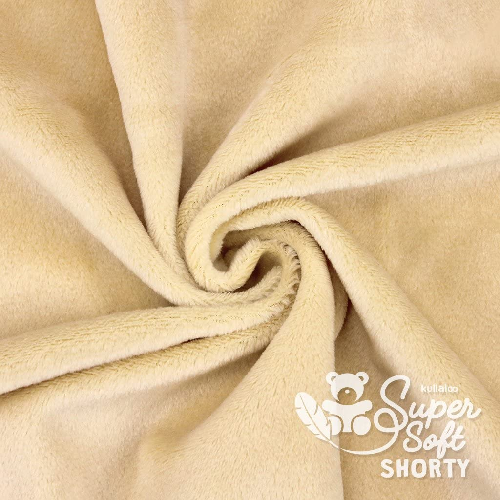 100/% polyester EN71-3 /& EN71-9 tested Super fluffy plush // cuddle fabric 1,5mm pile kullaloo SuperSoft SHORTY