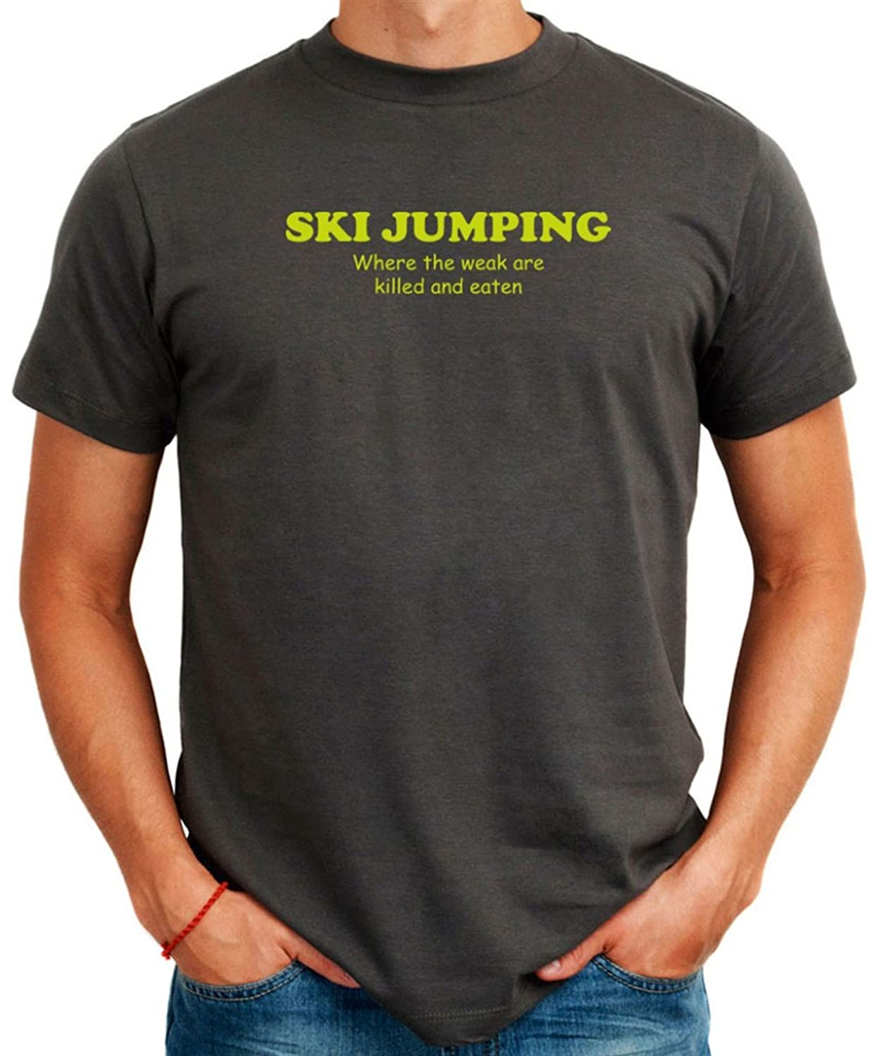 Ski Jumping WHERE THE WEAK ARE KILLED AND EATEN T-Shirt