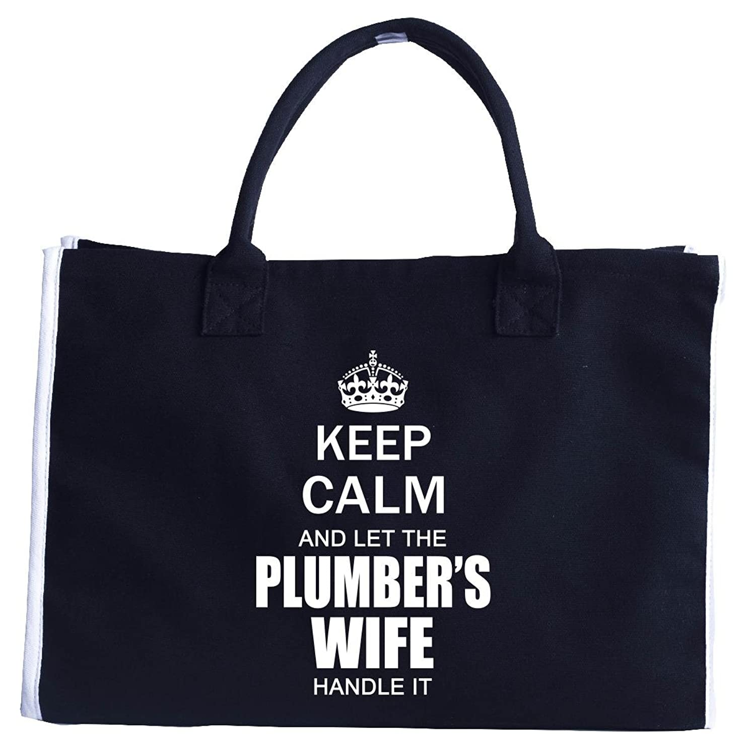 Keep Calm And Let The Plumbers Wife Handle It Funny Wedding - Tote Bag