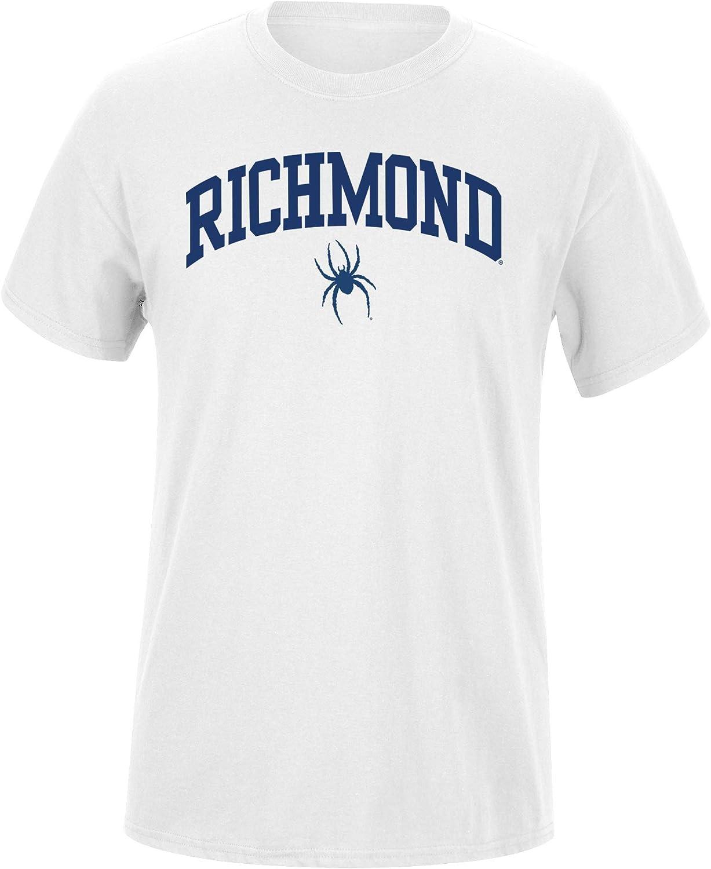 Elite Fan Shop White Basic Short Sleeve College Arch T-Shirt