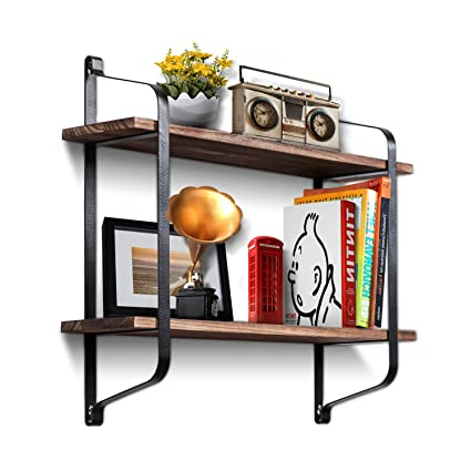 Estantería flotante estantes de montaje en pared repisa estantes rústico madera  para colgar estantes por roolee 95c4b46d5292