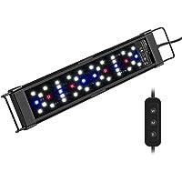 NICREW Iluminacion LED för akvarium, akvarium LED-ljus Display