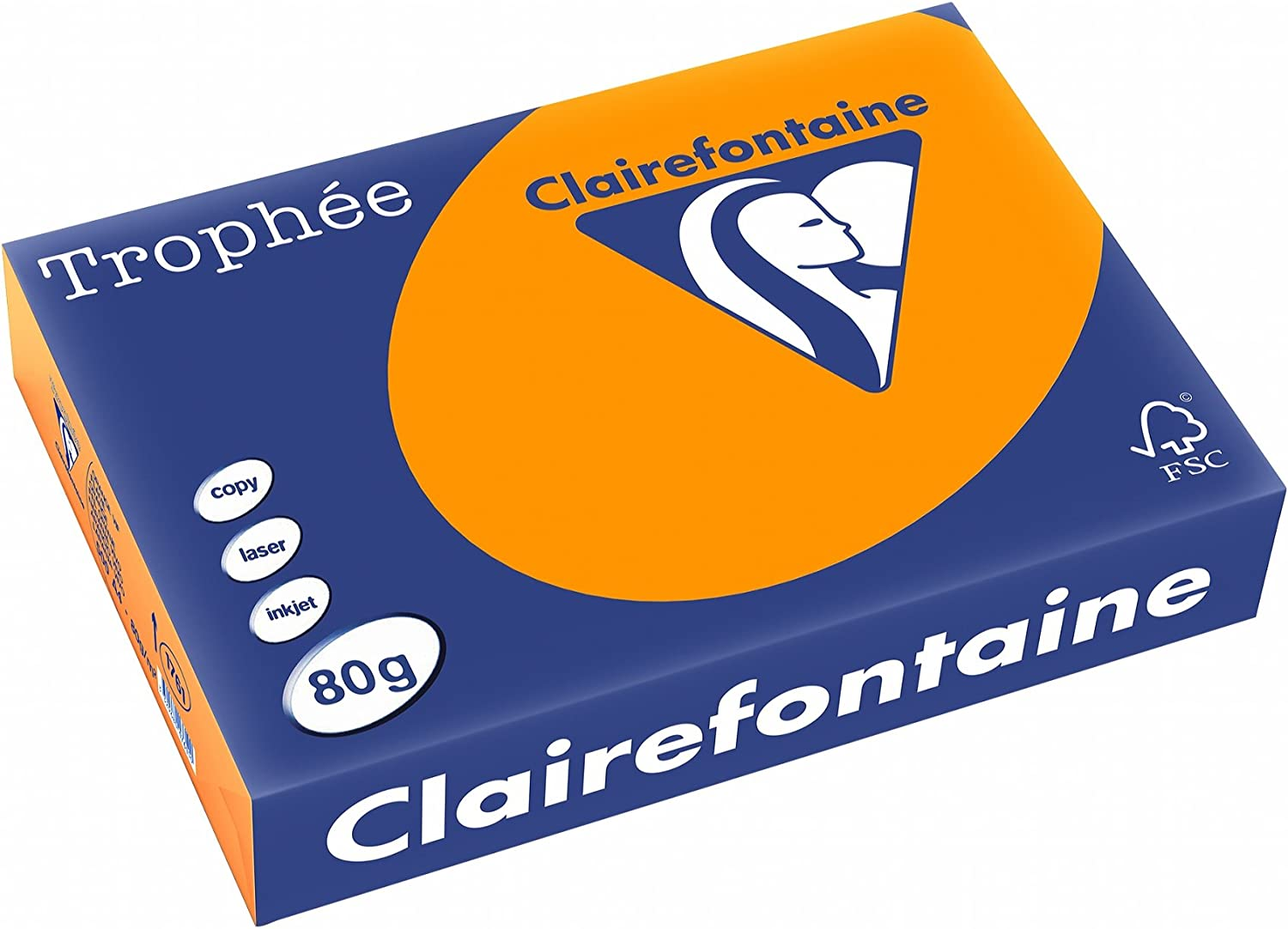 Clairefontaine Trophee Colours Paper 80gsm Ream-wrapped A4 Gold Ref 1780 500 Sheets