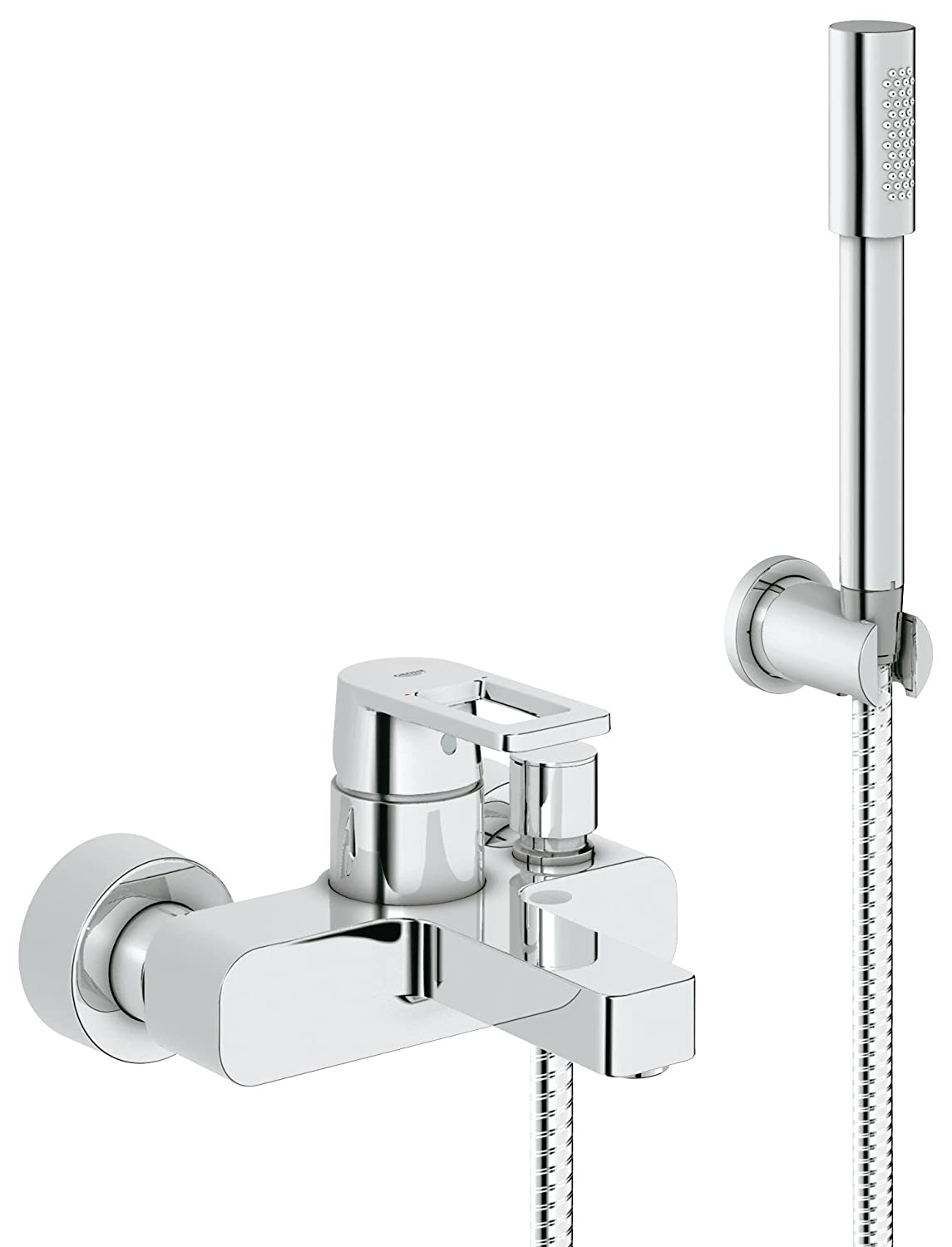 Grohe 32639000 Quadra Single-Lever Bath Mixer Tap with Matching Hand ...