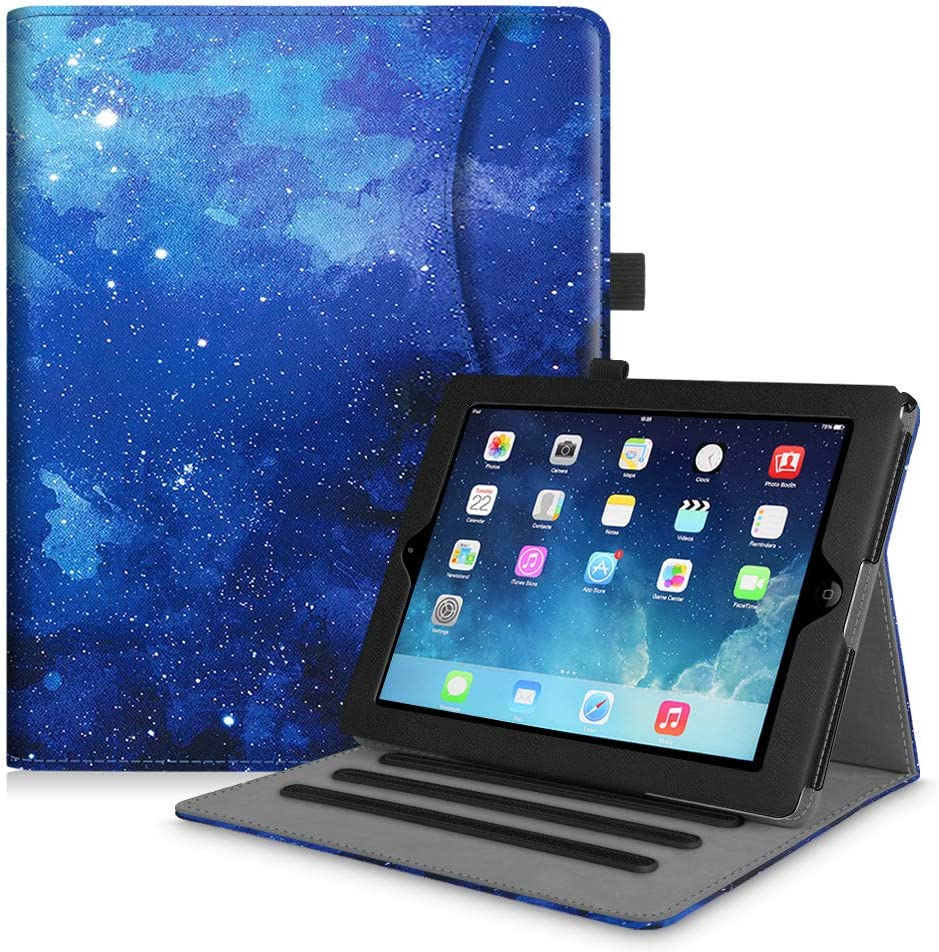 Fintie Case for iPad 2 3 4 (Old Model) 9.7 inch Tablet - [Corner Protection] Multi-Angle Viewing Smart Stand Cover with Pocket, Auto Sleep/Wake for iPad 2/3 & iPad 4th Gen Retina Display, Starry Sky