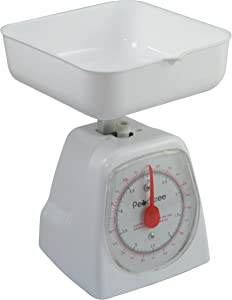 American Weigh Scale Peachtree Series Precise Mechanical Kitchen Scale, White, 5000G (DS-5K)