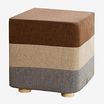Schon Amazon.de: Hocker Holz Gepolsterter Stuhl Frühstück Küche Bar Makeup Hocker  Sitz Mit 4 Kiefer Beine