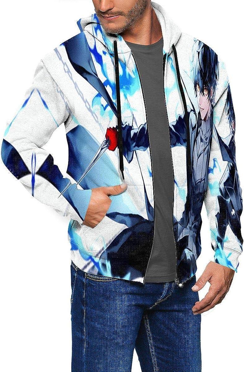 Persona 5 Mens Womens Hoodies with Hat Full Zip Active Sweatershirt Pocket Hoodies Teen Coat