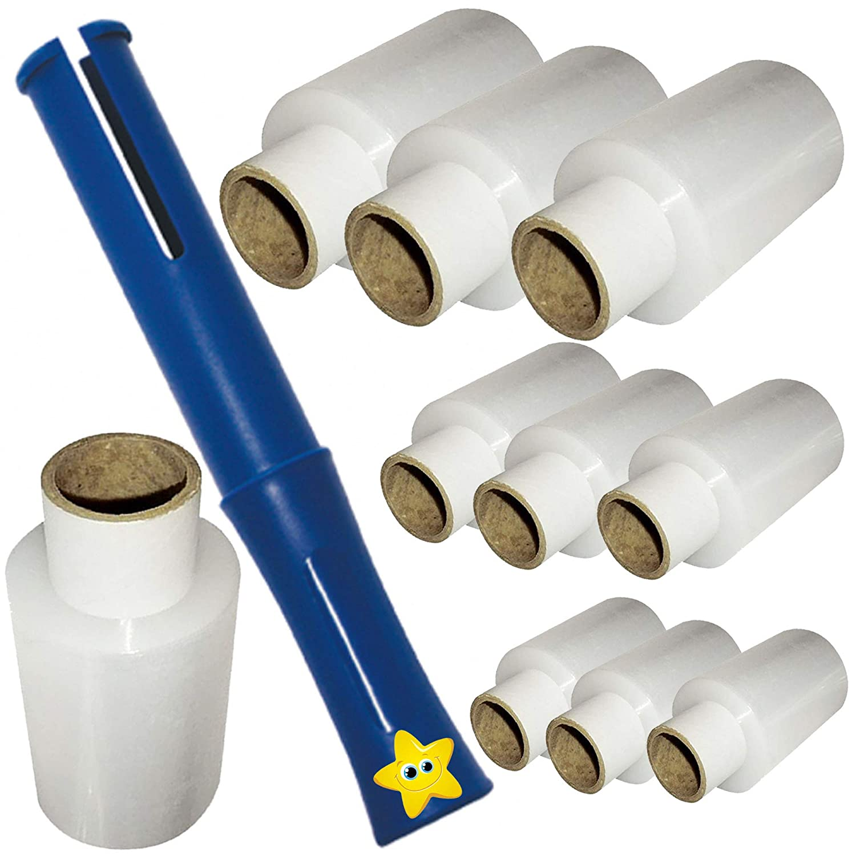 Pack of 2 Triplast 100 mm x 150 m Mini Pallet Stretch Shrink Wrap Black