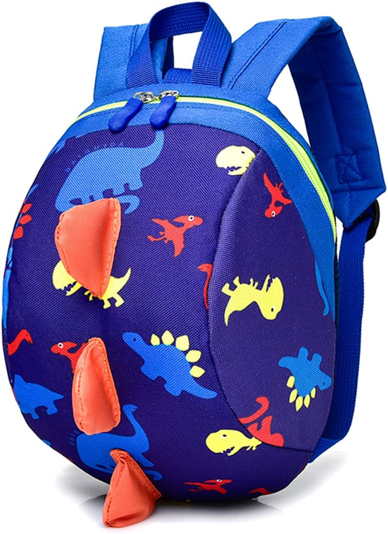Biofieay Kids Backpack Dinosaur Rucksack Safety Anti-Lost Cartoon Preschool Bag with Harness Reins for Toddler Boys Girls