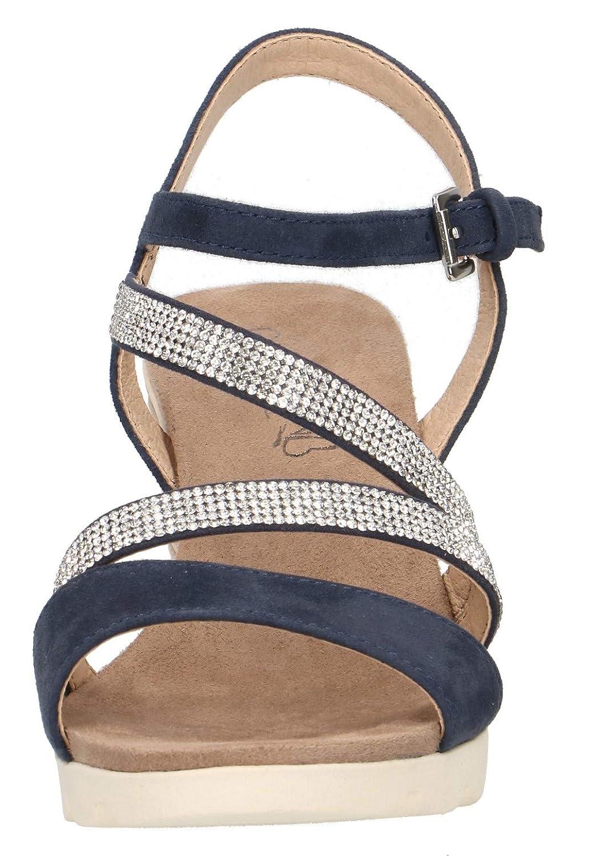 Keilsandalen keilsandaletten 22 flach keilabsatz 28309 bequem sandalen Damen Caprice sommerschuh xWodBCeQr