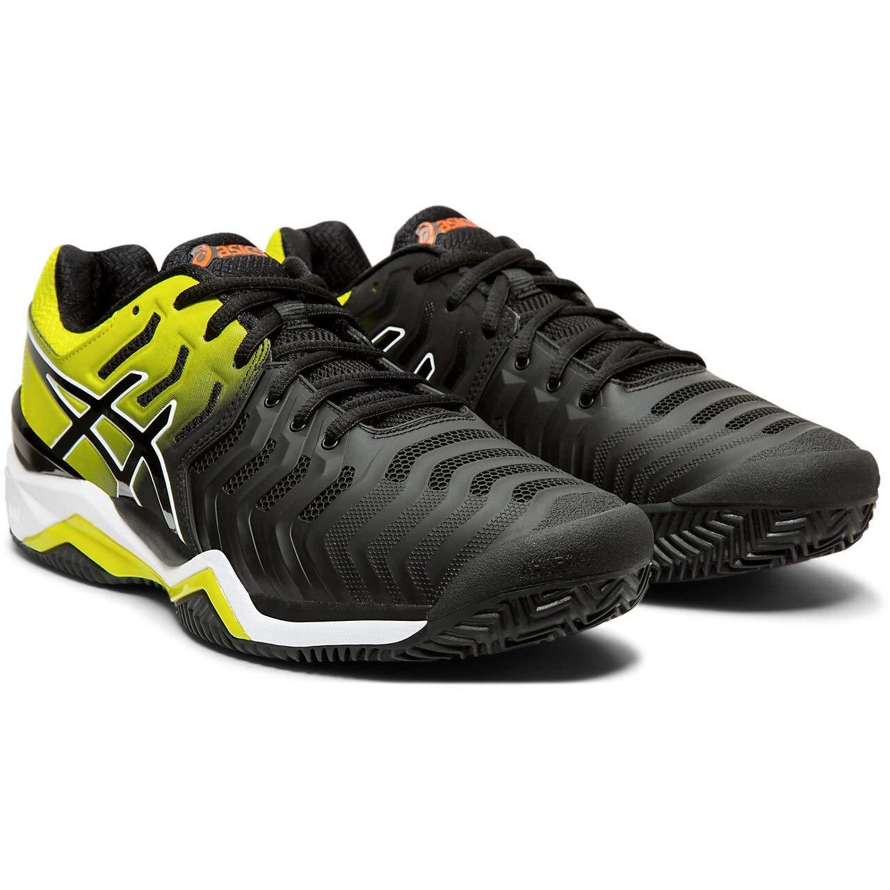 Noir jaune 39 EU ASICS Gel-Resolution 7 Clay, Chaussures de Tennis Homme