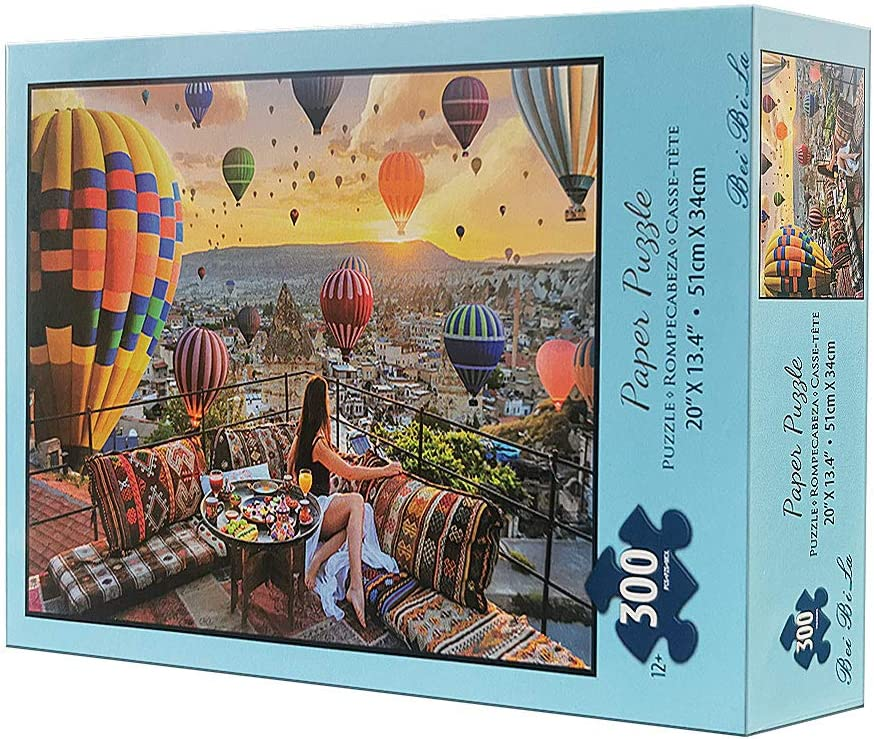 Italy QISHOP 500 Pieces Jigsaw Puzzles for Adults Colorful Landscape Difficult Puzzle Art for Men and Women 18/×11 Inch Mini Puzzles