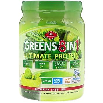 Amazon.com: Olympian Labs Ultimate verdes Proteínas 8 en 1 ...