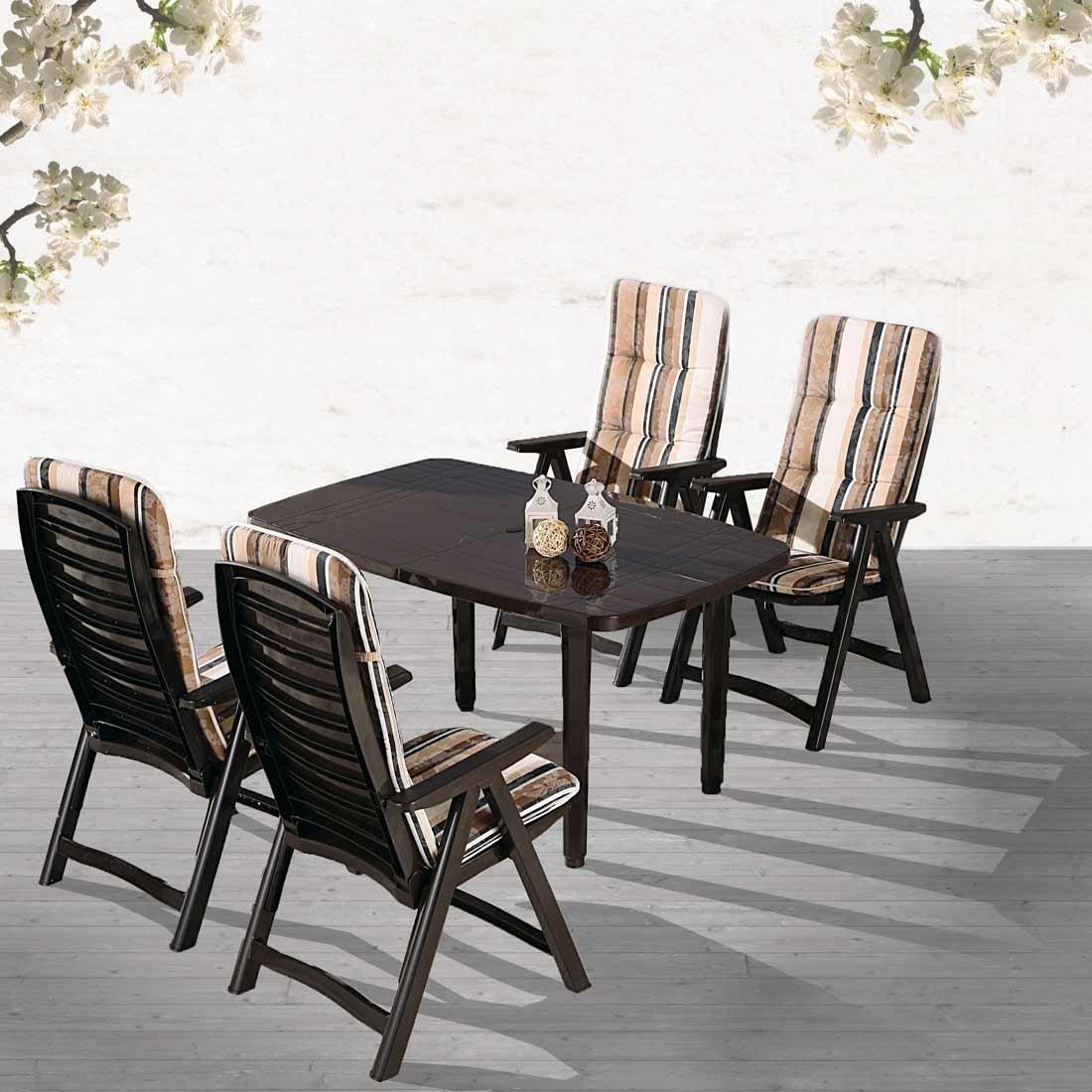 Amazon.de: BEST 96291710 9-teilig Komplett Set Santiago, Gartenmöbel ...