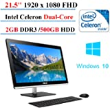 ASUS All-in-One Desktop 21.5-inch, Intel Celeron J1800 Dual-Core, 2GB DDR3, 500 GB HDD, Windows 10 Home