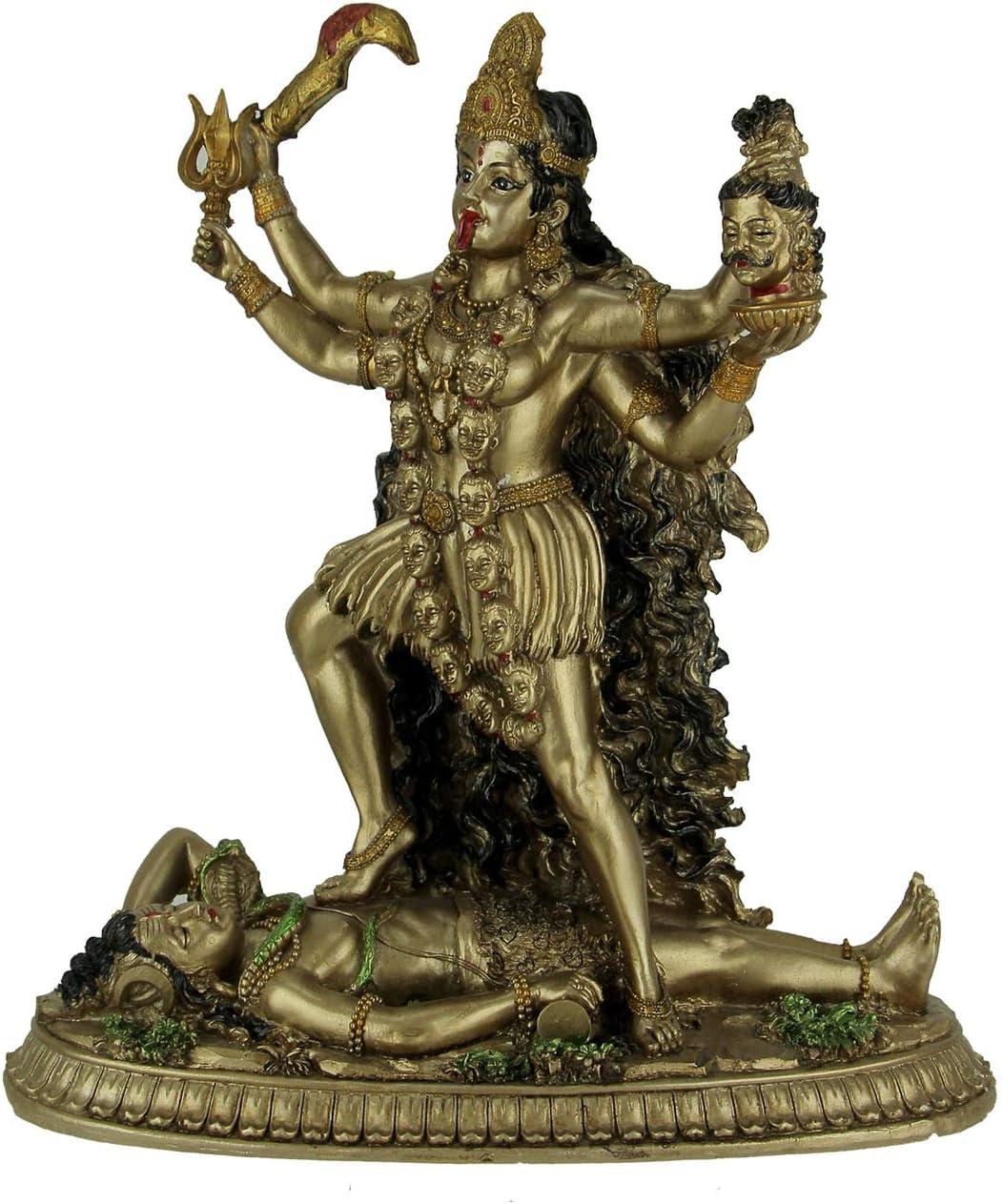 Things2Die4 Statua della dea ind/ù Kali in Piedi sul Signore Shiva