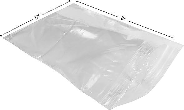 "200 Clear 5 x 8/"" 2 Mil Reclosable Resealable Ziplock Zipper Poly Plastic Bags"