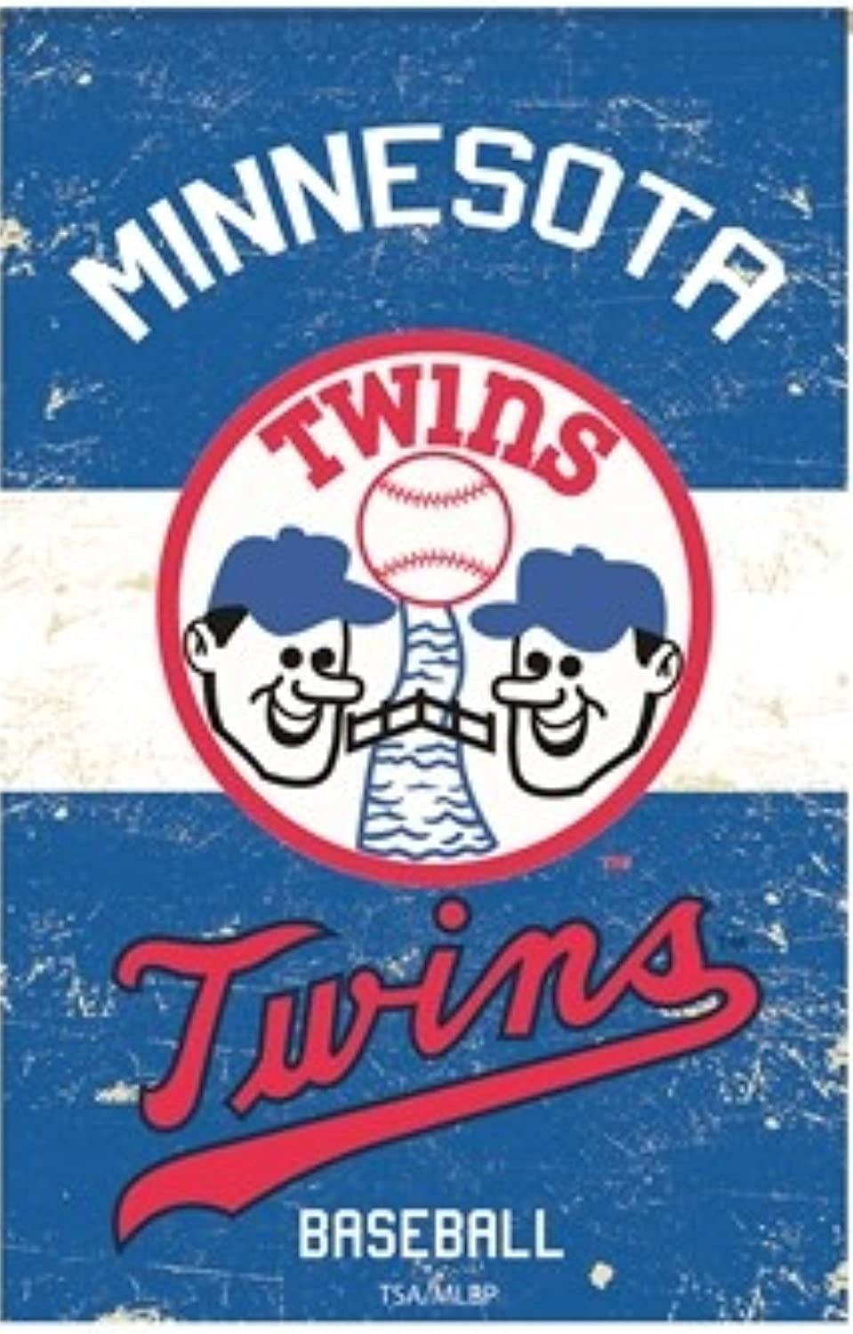 Rico Industries, Inc. Twins EG Vintage Retro Banner Premium 2-Sided 28x44 House Flag Baseball
