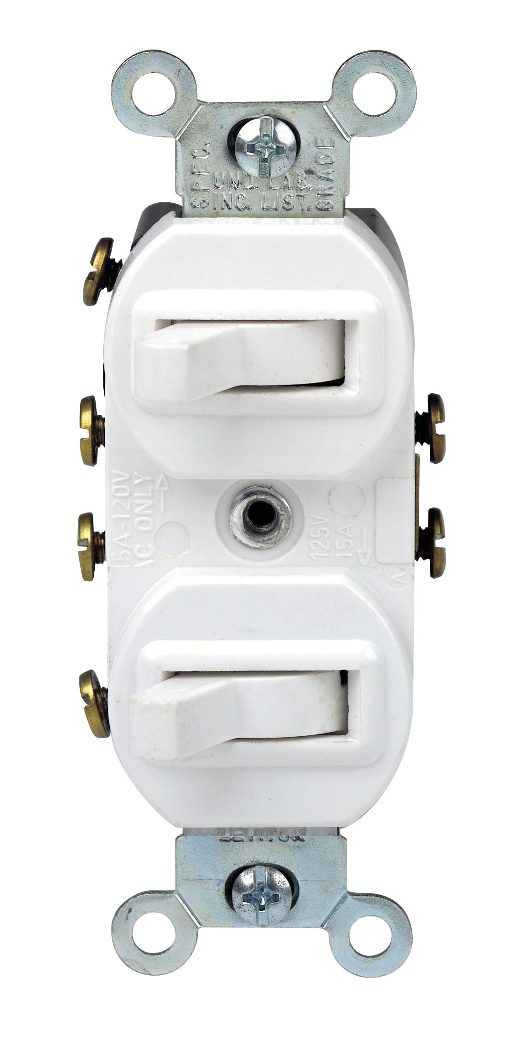 Best Rated In Electrical Light Switches Helpful Customer Reviews Wiring Spst Lighted Rocker To Split Duplex Receptacles Leviton 5243 W Toggle Switch With Grounding Screw 120 277 Vac