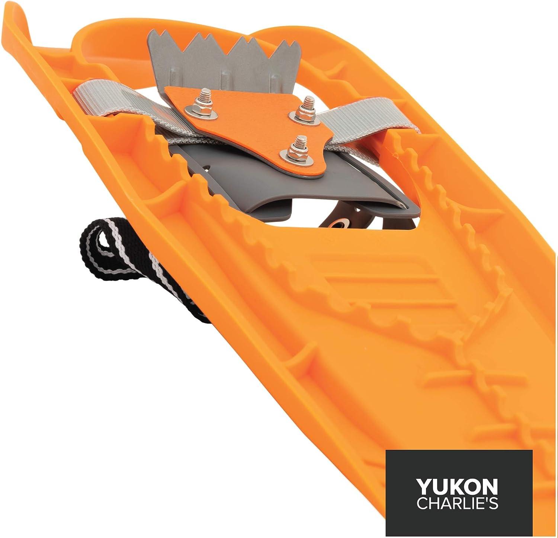 "Yukon Charlies Penguin Jr Youth Molded Snowshoes 7/"" x 16/"" Orange Pair 2 Shoes"