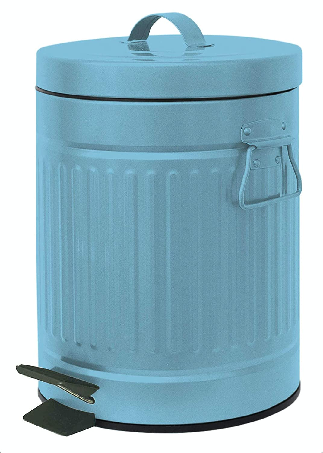 Home Expressions Inc. Home Expressions Retro Small Step Bin Trash Can .8 Gallons 3 Liter 6.5x9.5 Copper