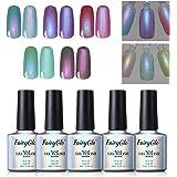 5PCS Pearl Nail Polish Gel Manicure Salon Decor Nail Art Elegant Shell Shiny Under Light UV LED Soak Off Gift Set FairyGlo 10ml 012