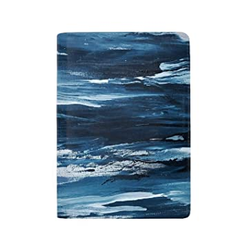 Marble Abstract Art Leather Passport Holder Cover Case Blocking Travel Wallet