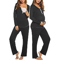 Balancora Pijama de lactancia para mujer pijama de dos piezas camiseta y pantal/ón largo con funci/ón de lactancia ropa de casa S-XXL pijama de manga corta