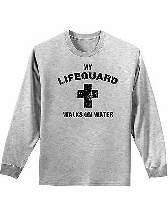 c8ca6851ecf My Lifeguard Walks On Water Easter Adult Long Sleeve Shirt | Amazon.com