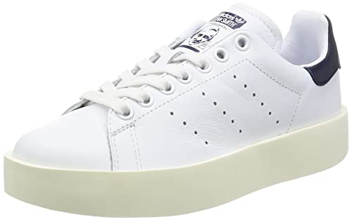 brand new baa97 0aa72 adidas Stan Smith Bold W, Scarpe da Ginnastica Basse Donna, Bianco Core  Black Collegiate Navy, 41 1 3 EU  Amazon.it  Scarpe e borse
