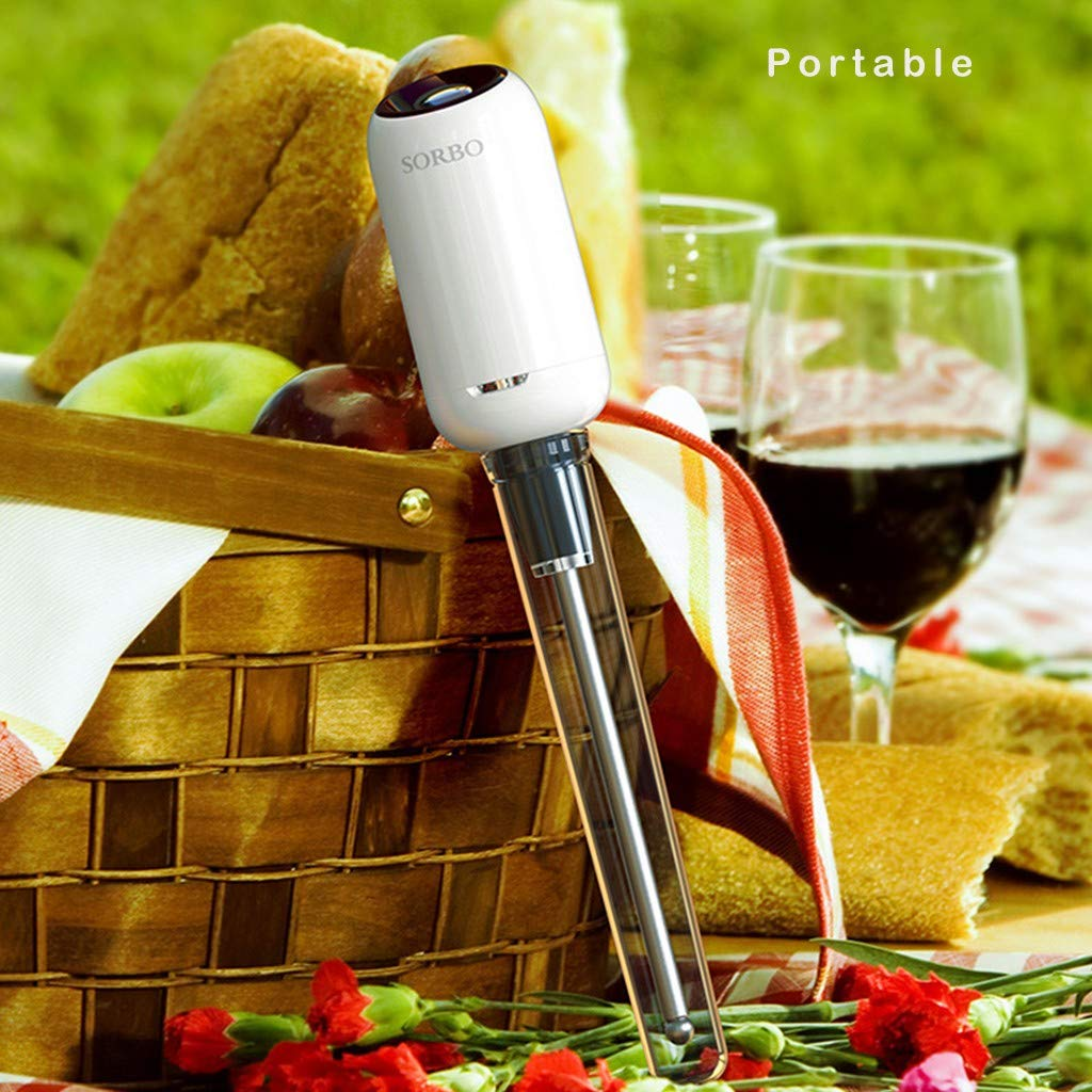 Sorbo Portable Automatic Wine Fast Sober Up For Household Bar Restaurant with Bracket and Protective Shell Sober up in Bottle ABS+Silicone+304 Stainless Steel (GD) by umUXHxk (Image #5)