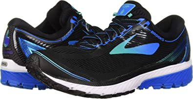 dff741b8057 Brooks Men s Ghost 10 Black Turquoise Blue 9 D US  Buy Online at Low Prices  in India - Amazon.in