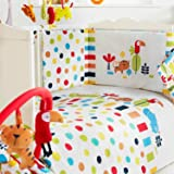 Red Kite Baby Cosi Cot 4 Piece Bedding Set, Safari