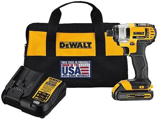 DEWALT 20V MAX Impact Driver Kit, 1 4-Inch DCF885C1