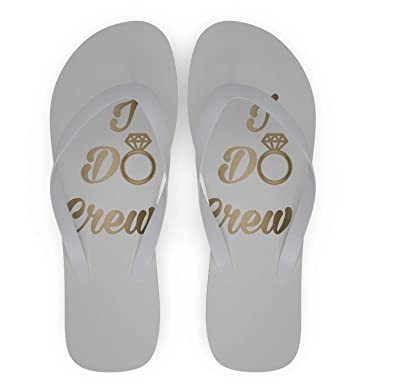 39a6bf889 Wedding Flip Flops - I Do Crew (6 Pairs)  Amazon.co.uk  Shoes   Bags
