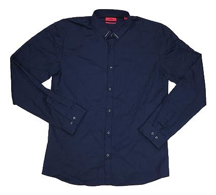 ef9b6952d Hugo Boss Extra Slim Fit Ero3 Long Sleeve Button Down Shirt (Navy, X-
